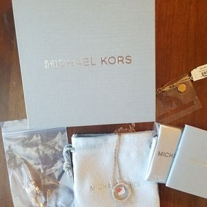Authentic Michael Kors Necklace and Earrings